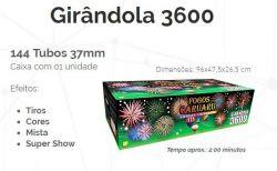 Girândola 3600  - 144 tubos 37mm