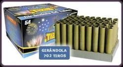 Girândola 702 tiros 54 tubos - fogos Tiziu