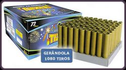 Girândola 1080 tiros  72 tubos - fogos Tiziu
