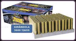 Girândola 3600  - 144 tubos 37mm- fogos Tiziu