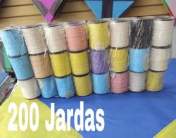 CAIXA COM 24 CARRETÉIS DE 200 JARDAS 3 Passadas